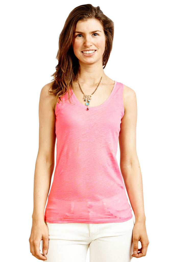 Fluro Tank Top by Majestic | Pink