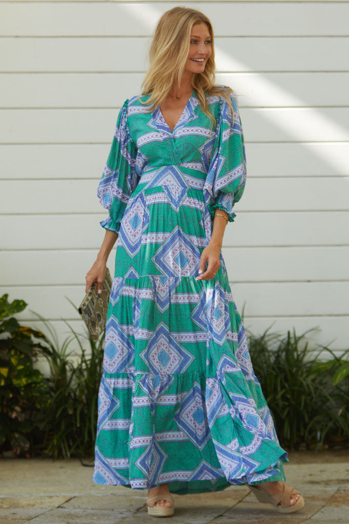 Maxi Dress by Feather & Find | Green - Aspiga