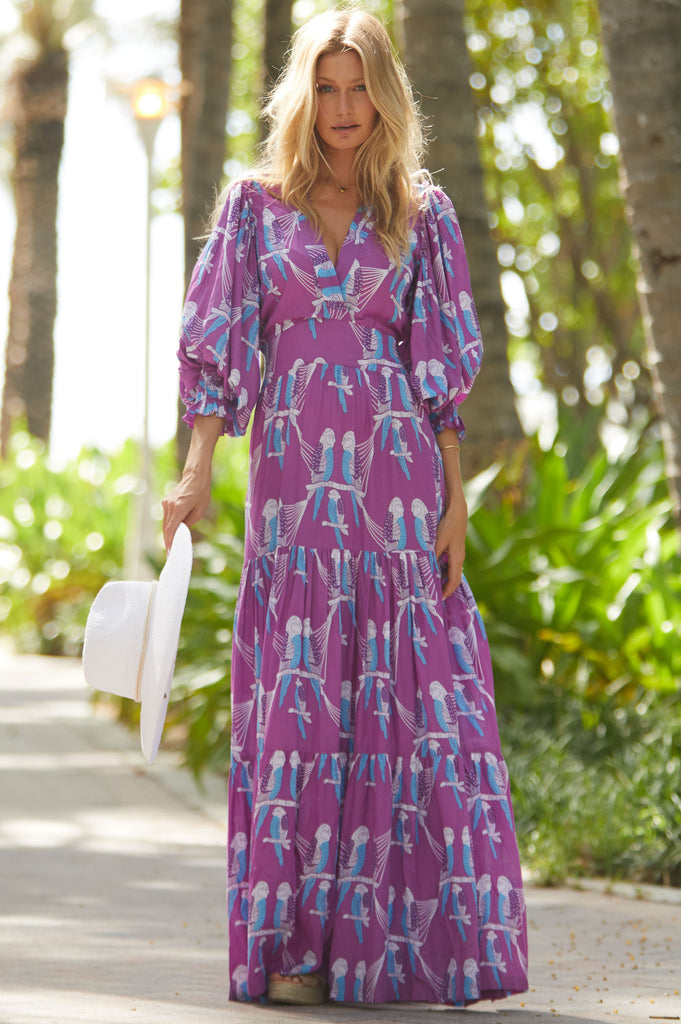 Maxi Dress by Feather & Find | Purple - Aspiga