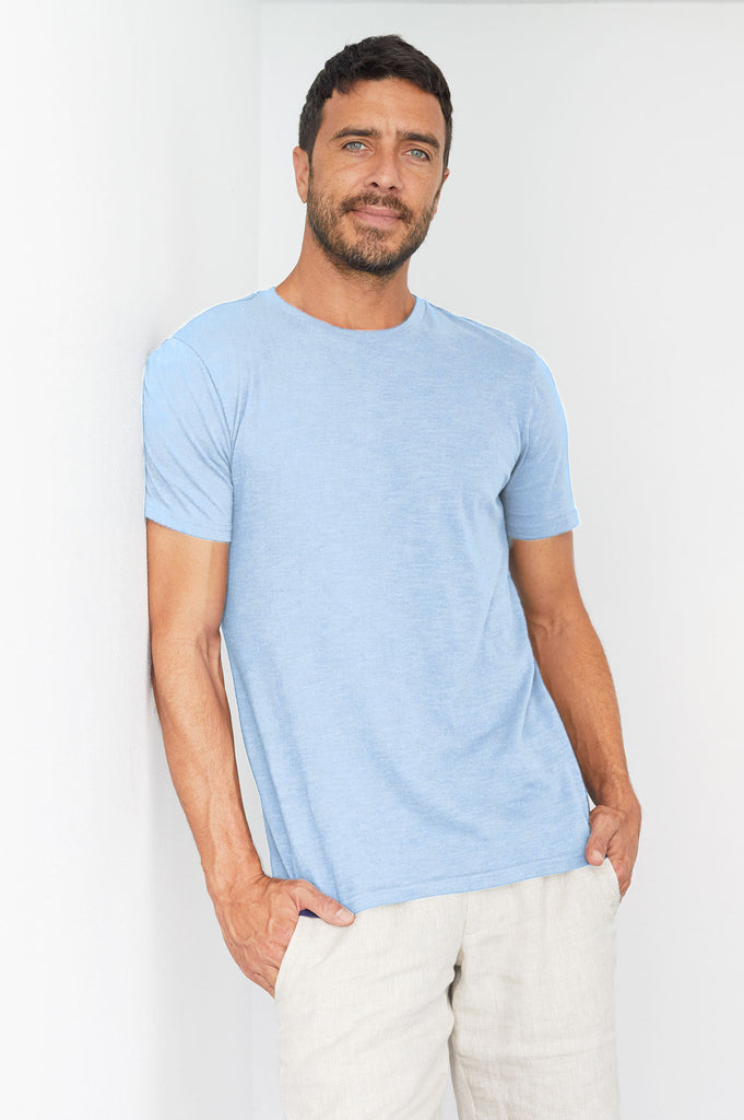 Men's Crew Neck T-Shirt | Sky Blue