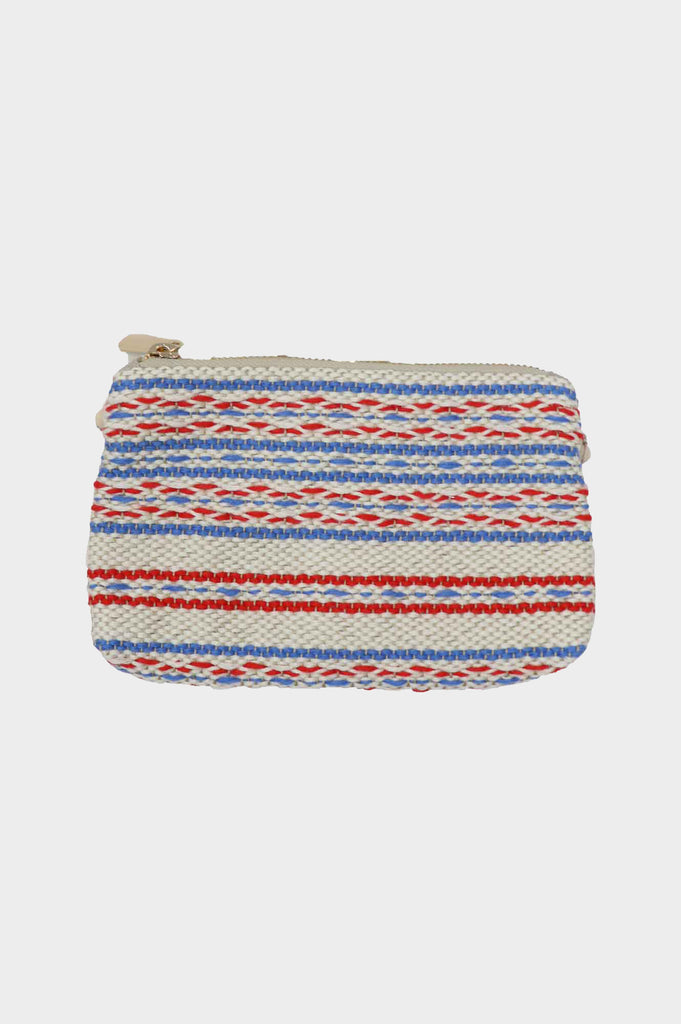 5 in 1 Mini Handwoven Cotton Bag | Red/White/Blue