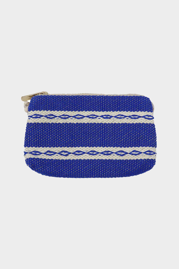 5 in 1 Mini Handwoven Cotton Bag | Blue/White