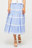 Miramar Midi Skirt | Blue/White