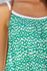 Miranda Plait Sun Top | Leopard Green