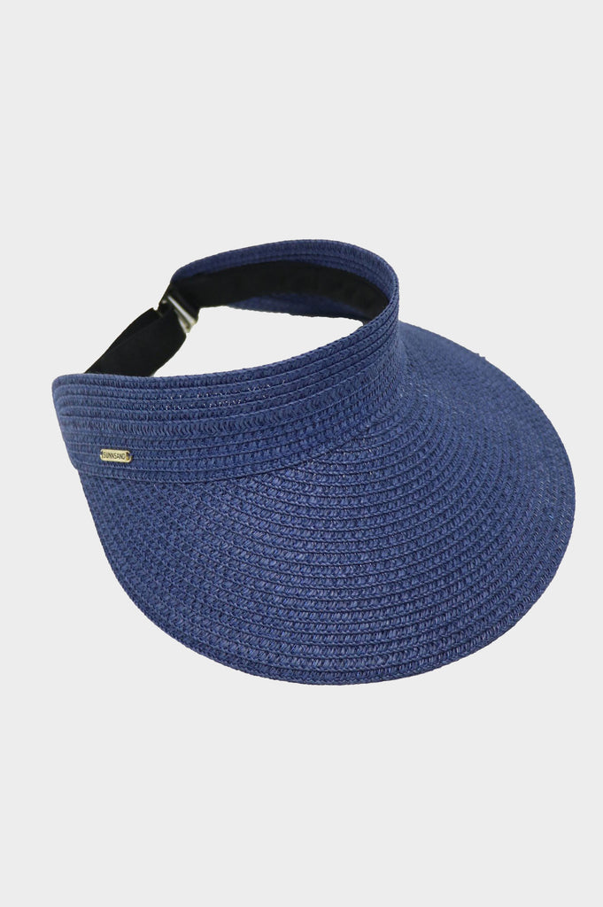 Paper Braid Visor | Navy