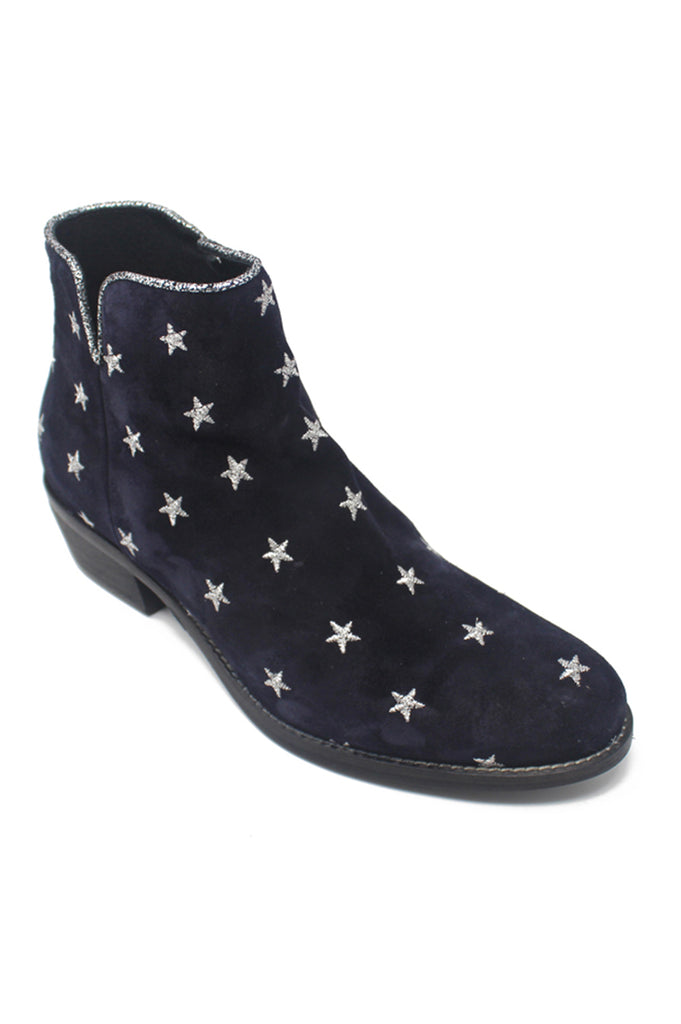 Star Cowboy Suede Boots | Navy