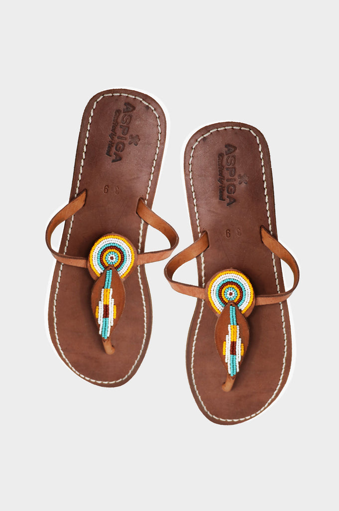 Ngao Sandal | Light Orange / Grey - Aspiga