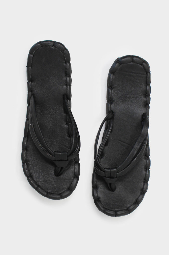 Recycled Leather Sandals | Black - Aspiga