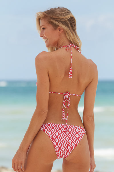 Triangle Bikini | Red/White