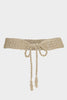 Ruched Soft Cotton Woven Belt | Gold - Aspiga