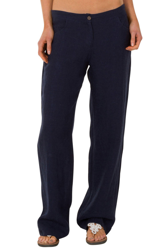 Salvador Linen Trousers | Navy