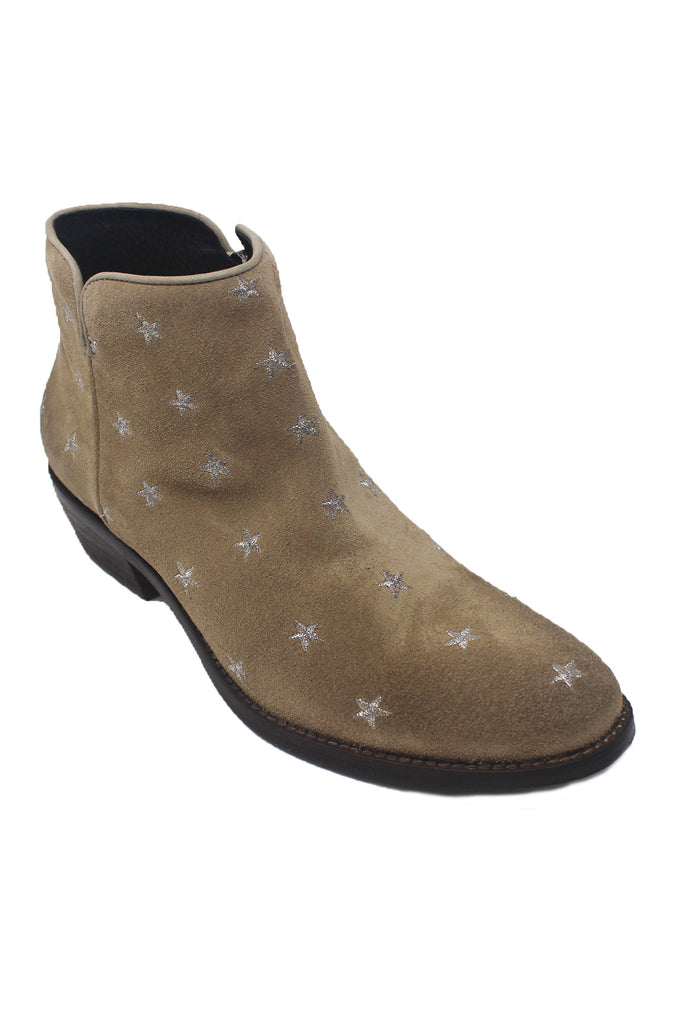 Star Cowboy Suede Boots | Sand