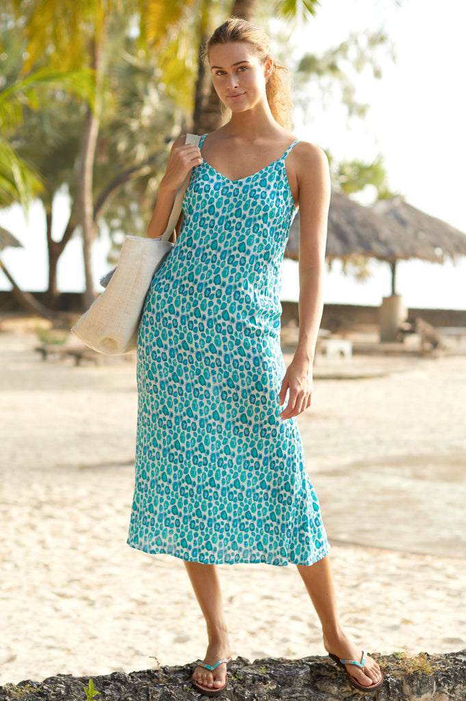 Miami Midi Dress | Simba Sea Green - Aspiga