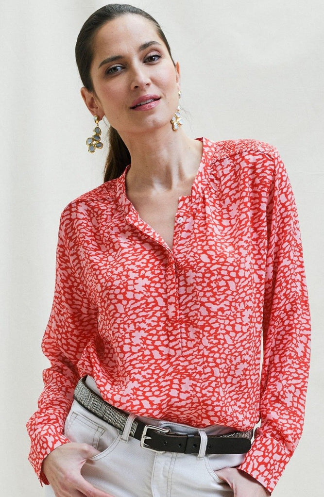 Alianne LENZING™ Viscose Blouse | Red/Pink