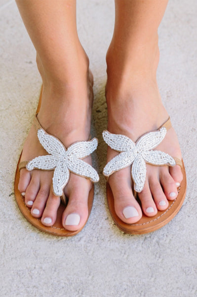 Starfish Sandals | White
