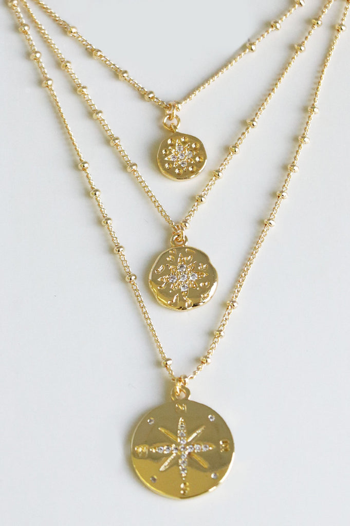Summer Sunset Necklace | Gold - Aspiga