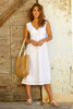 Elenor Linen Midi Dress | White