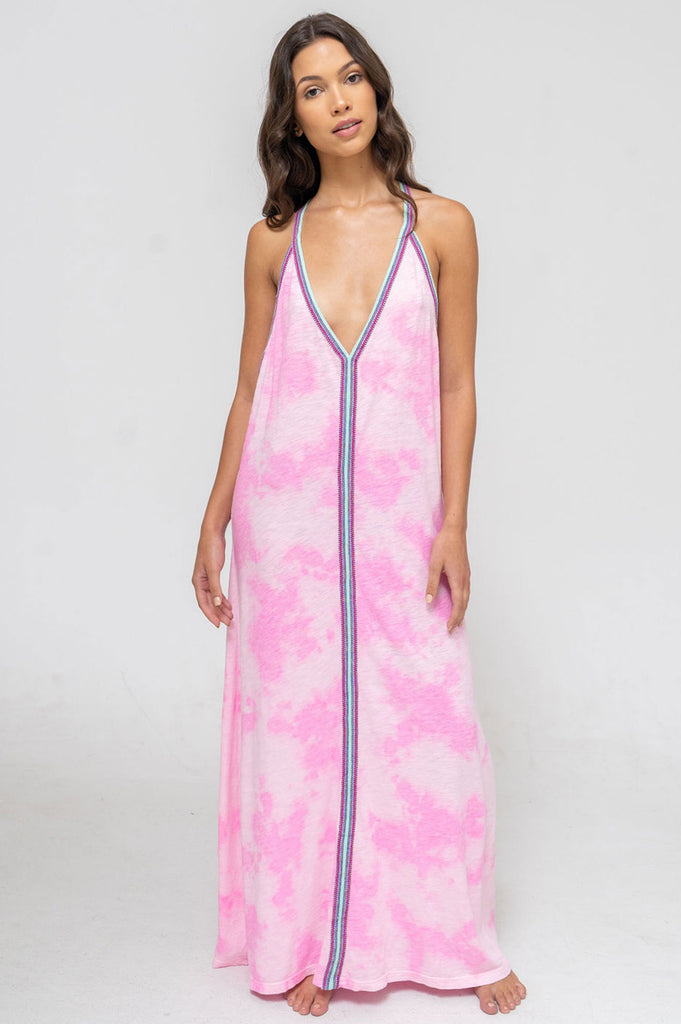 Tie Dye Sundress By Pitusa | Bubble Gum Pink