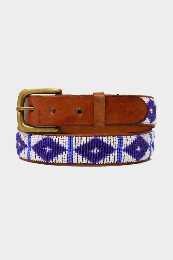 Triangle Belt | White/Maasai Blue - Aspiga