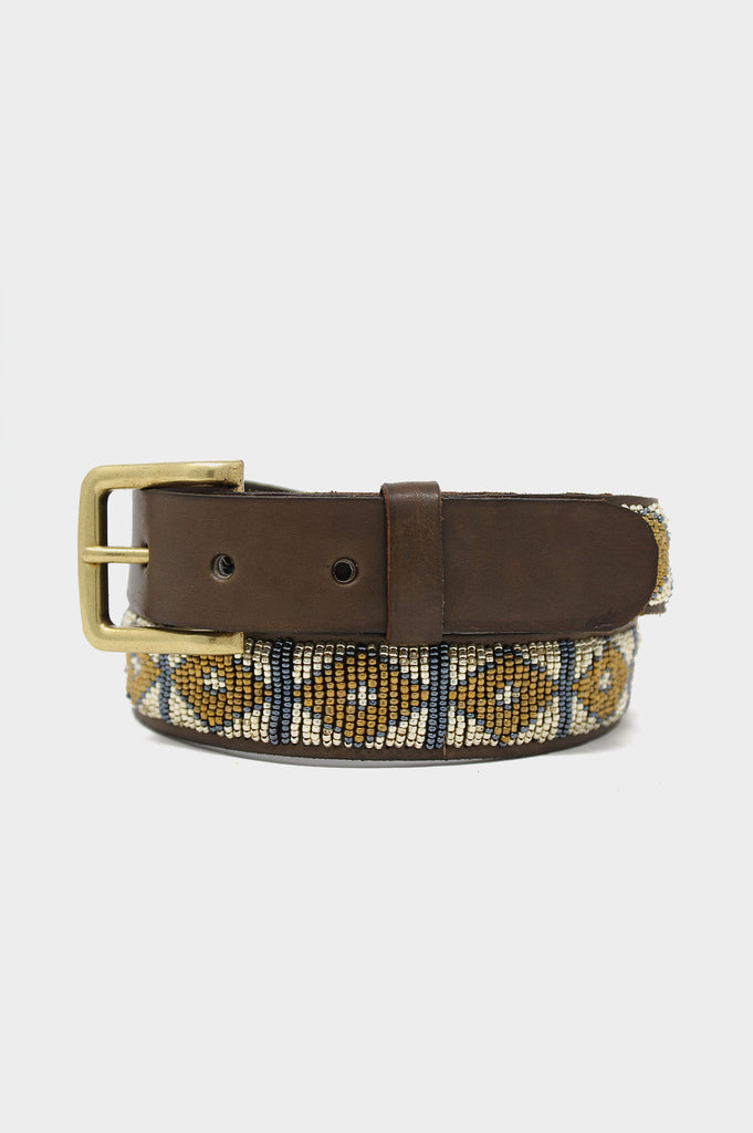 Triangle Leather Belt | Light Gold
