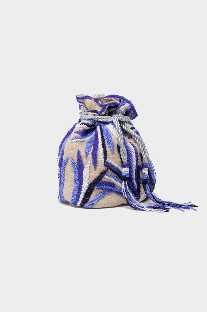 Tropical Pouch Bag | Blue/White