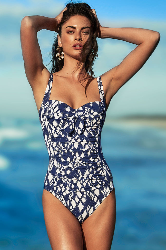 Twist Swimsuit by Moontide | Diamond Maze - Aspiga