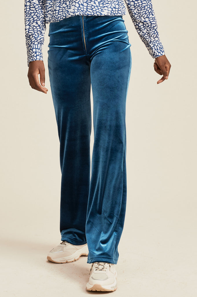 Maisie Velvet Trousers | Teal