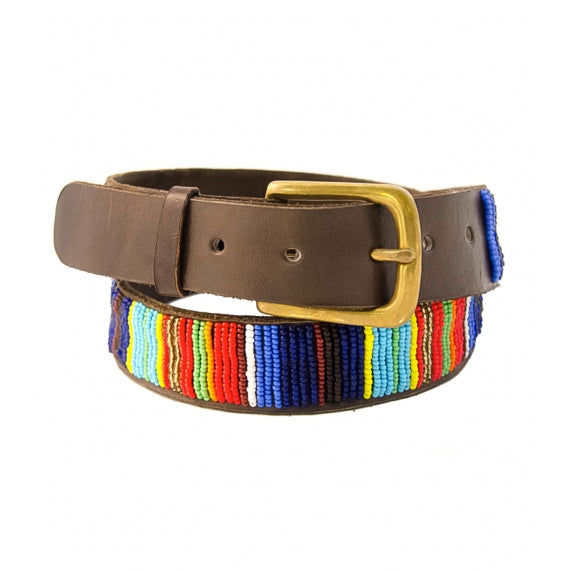 Kids Vertical Beaded Belt | Multi