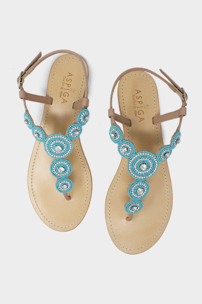 Wedding Sandals | Sea Green - Aspiga