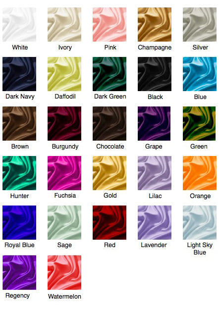 Matte Satin Color Chart