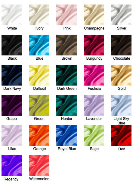 Silk Like Satin Color Chart