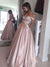 Long Sexy A-Line Sweetheart Sleeveless Zipper Pink Prom Dresses Ball Gowns 2018, 6664317