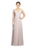 Affordable Long Chiffon A-Line Sweetheart Off the Shoulder Sleeveless Bridesmaid Dress Zelda