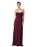 Affordable Long Chiffon A-Line Sweetheart Sleeveless Bridesmaid Dress Jessie