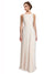 Affordable Long Chiffon A-Line High Neck Bateau Sleeveless Bridesmaid Dress Lennox