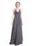 Affordable Long Chiffon A-Line Spaghetti Straps Halter Sleeveless Bridesmaid Dress Jolie