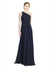 Affordable Long Chiffon A-Line One Shoulder Sleeveless Bridesmaid Dress Kenna