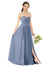 Affordable Bridesmaid Dress Elizabeth Long A-Line Sweetheart Chiffon Dusty Blue Bridesmaid Dress Floor Length Open Back Sleeveless 174029