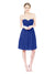 Affordable Bridesmaid Dress Ella Short A-Line Sweetheart Chiffon Royal Blue Bridesmaid Dress Knee Length Open Back Sleeveless 174032