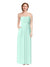 Affordable Bridesmaid Dress Scarlett Long Sheath Sweetheart Chiffon Mint Green Bridesmaid Dress Floor Length Open Back Sleeveless 174034