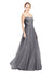 Affordable Bridesmaid Dresses Layla Long A-Line Sweetheart Strapless Tulle Slate Grey 127 Bridesmaid Dress Floor Length Open Back Sleeveless 174042