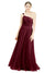 Affordable Bridesmaid Dresses Zoey Long A-Line Off the Shoulder Tulle Burgundy Bridesmaid Dress Floor Length Sleeveless 174045