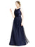 Affordable Bridesmaid Dresses Hannah Long A-Line Boat Neck Tulle Navy Blue 21 Bridesmaid Dress Floor Length Sleeveless 174047