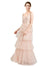 Affordable Bridesmaid Dresses Hazel Long A-Line V-Neck Tulle Pink Bridesmaid Dress Floor Length Sleeveless 174058