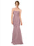 Affordable Erica Long Mermaid Strapless Sweetheart Tulle Pink 18# Bridesmaid Dress 174337