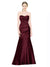 Affordable Bridesmaid Dress Alyson in Burgundy Color