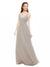 Affordable Long Livia Oyster Silver Bridesmaid Dress