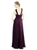Affordable Long Alannah Grape Bridesmaid Dress