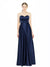 Affordable Long Adrienne A-Line Sweetheart Dark Navy Bridesmaid Dress