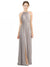 Affordable Long Maliah A-Line Halter Oyster Silver Bridesmaid Dress